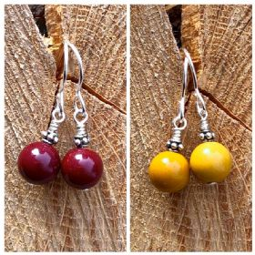 Mookaite Jasper Silver Earrings